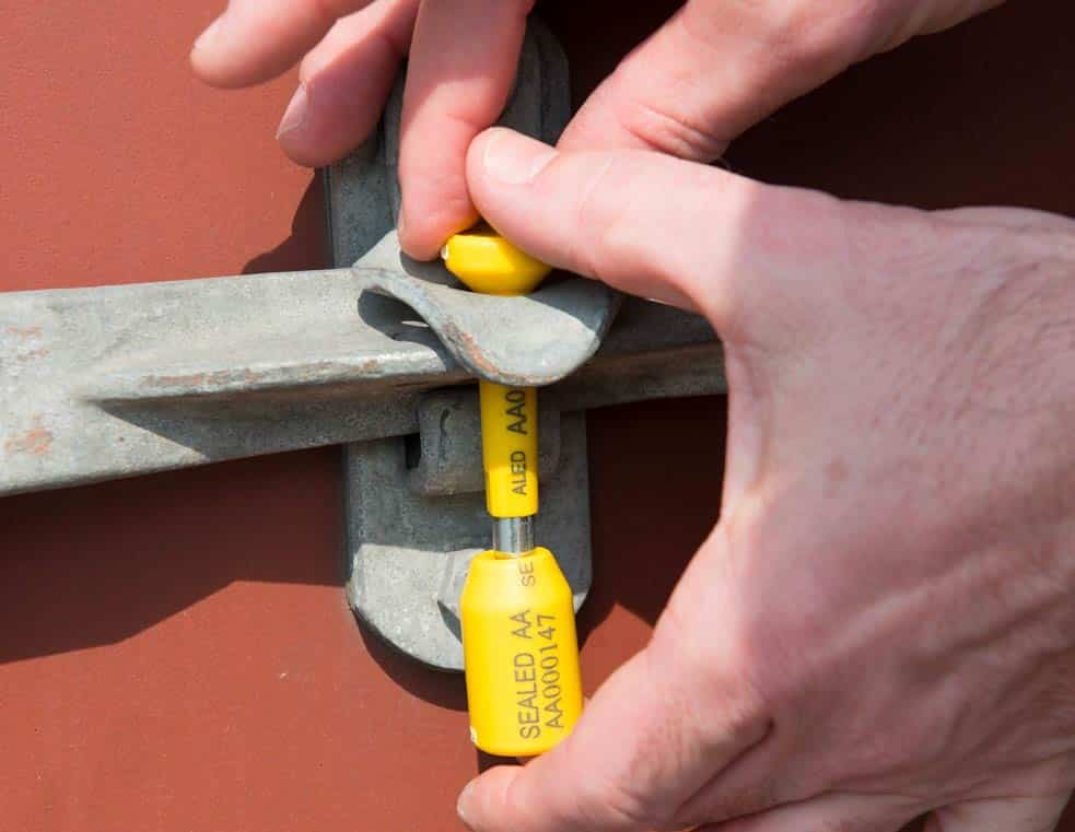 Bolt Lock Seal Container Handle