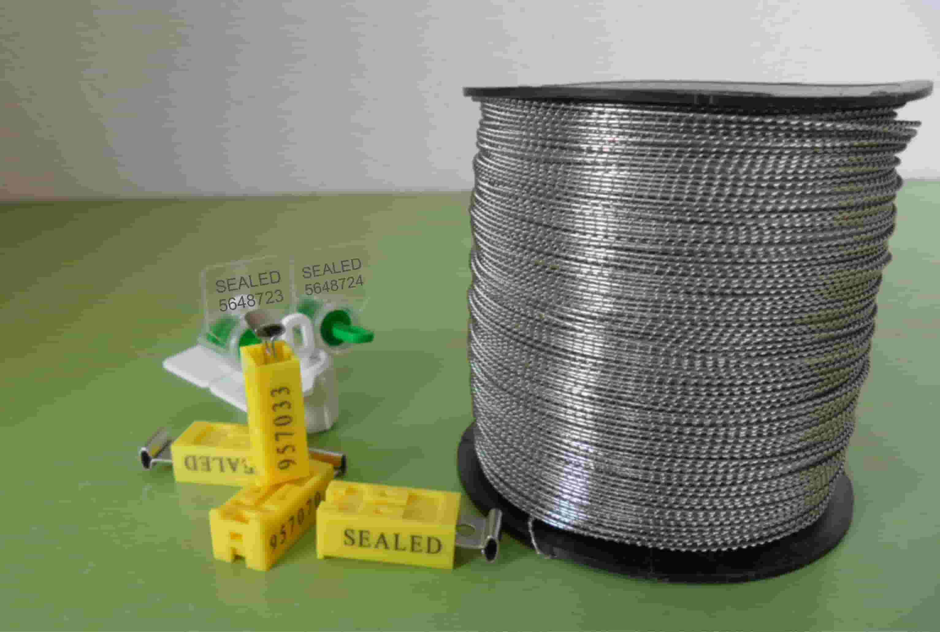 Stainless steel sealing wires are typically used with lead seals ...