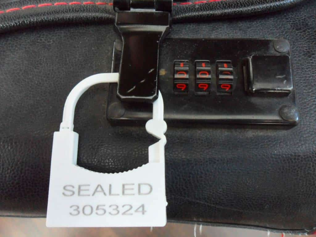 Anchor Seal On Suitcase