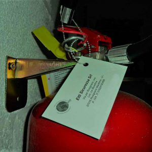 Fire Extinguisher Inspection Tag Holder Beaded Cable Ties