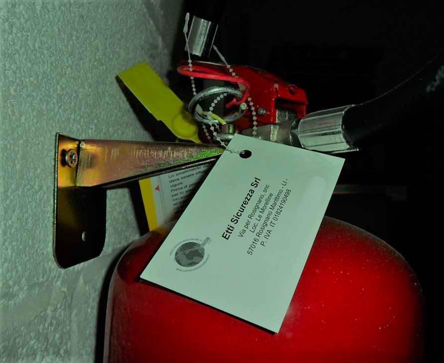 Fire Extinguisher Inspection Tag Holder2