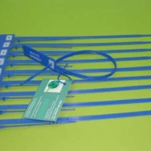 Precinto Plástico Ajustable Cuspide Con Porta-etiquetas