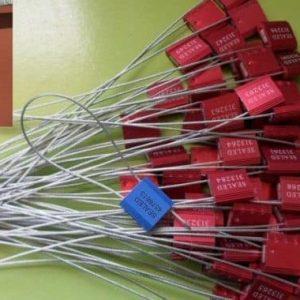 SCELLES DE SECURITE A CABLE METALLIQUE 1,5 Mm LION