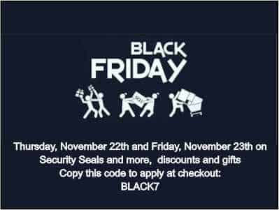 Black Friday On Security Seals And More!