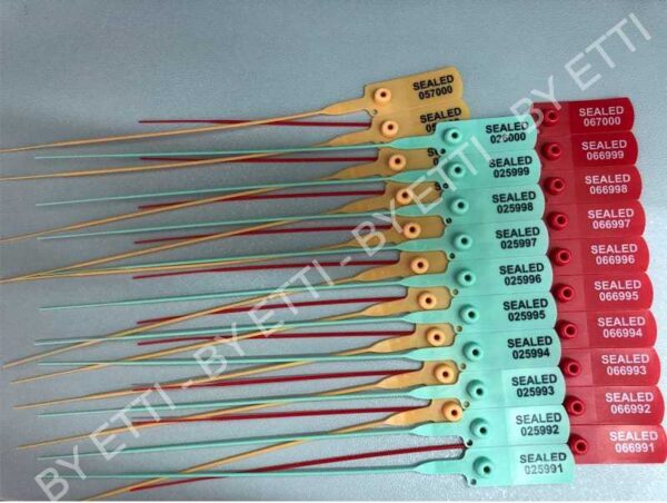 Plastic Thin Seals With Numbers Short